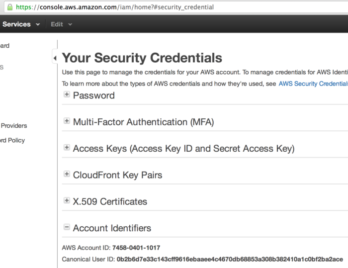 AWS Canonical ID