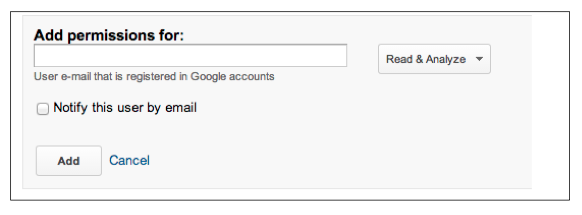 Google Analytics: Add User