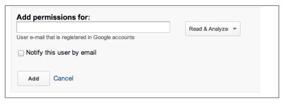 Google Analytics: Add User