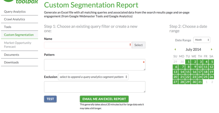 Custom Query Segmentation
