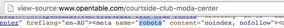 Open Table Robots Meta Tag