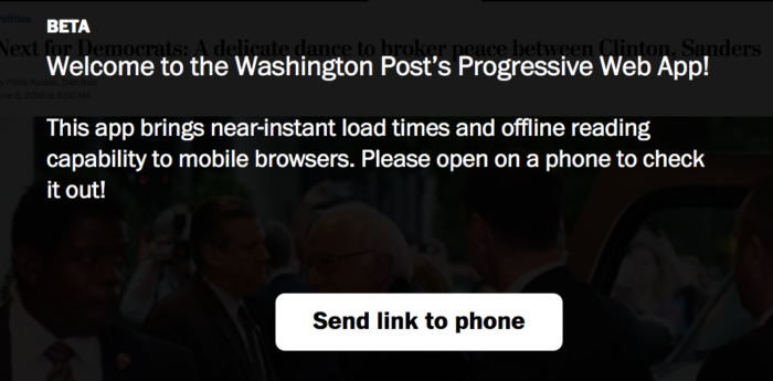 Washington Post PWA Example