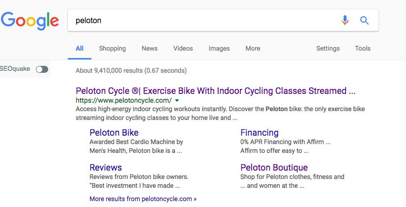 Google 302 redirect peloton