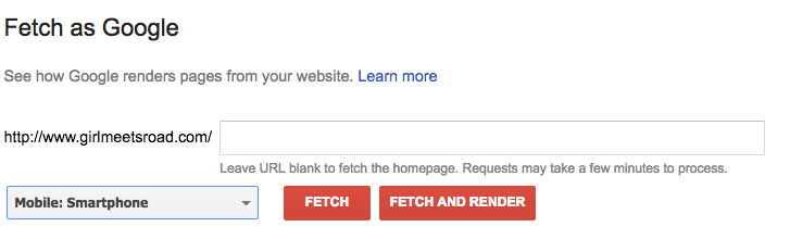 Google Fetch and Render