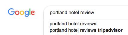 Google autocomplete tripadvisor