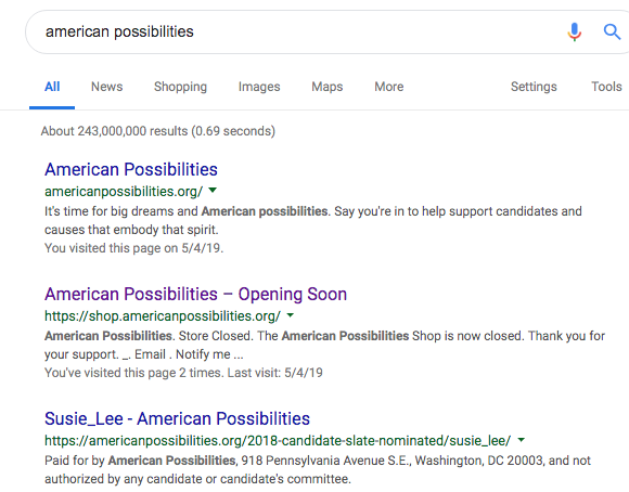 american possibilities indexed