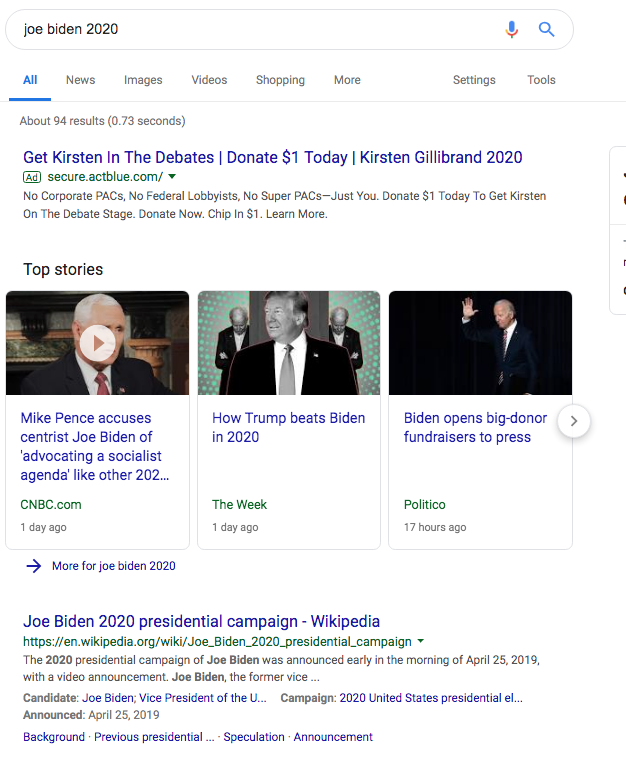 google joe biden 2020